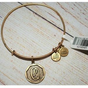 New Alex and Ani Gold Letter Q Charm Bracelet
